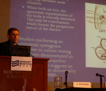 Dr. Marc Lamantia presented a report on vestibular involvement in Scoliosis